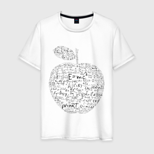 Мужская футболка хлопок Яблоко Ньютона (формулы физики) Фото 01