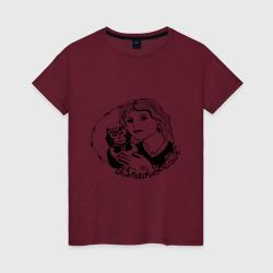 Женская футболка хлопокВладивосток портак