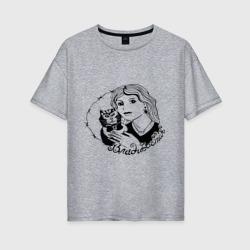 Женская футболка хлопок OversizeВладивосток портак
