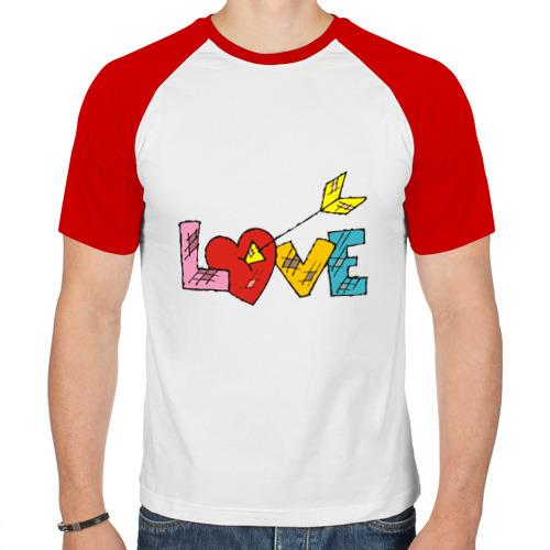 Мужская футболка реглан  Фото 01, надпись love