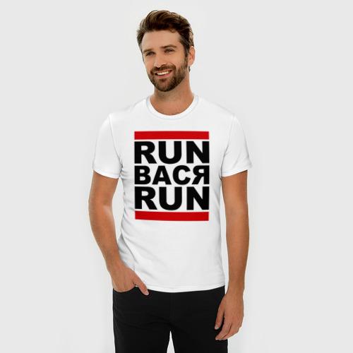 Мужская футболка премиум Run Вася Run Фото 01