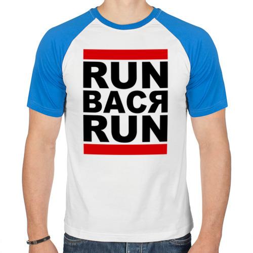 "Мужская футболка-реглан ""Run Вася Run"" - 1"