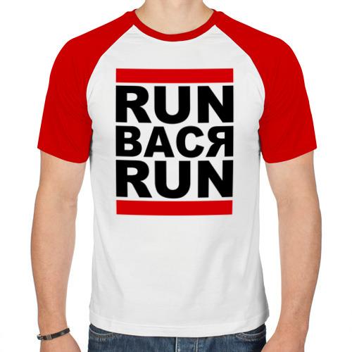 Мужская футболка реглан  Фото 01, Run Вася Run