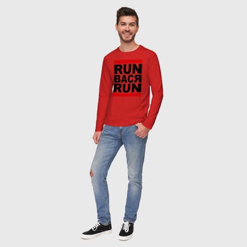 Мужской лонгслив хлопок Run Вася Run Фото 01