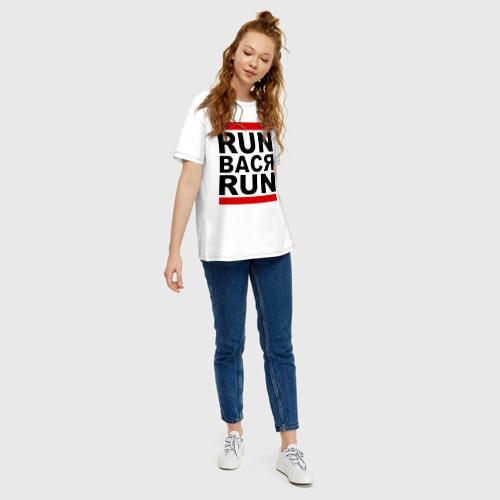 Женская футболка хлопок Oversize Run Вася Run Фото 01