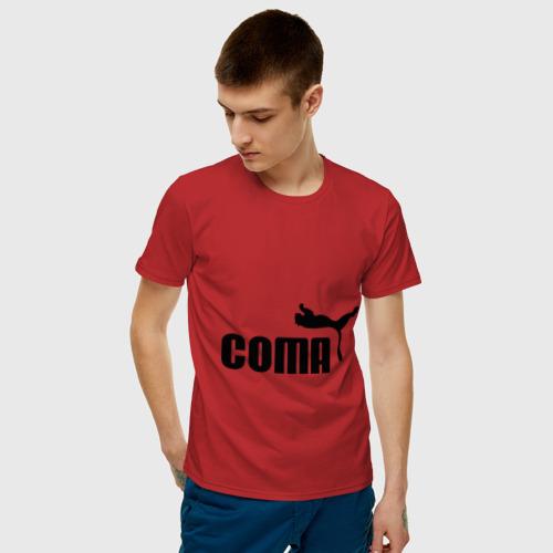 Мужская футболка хлопок Пума в коме Фото 01