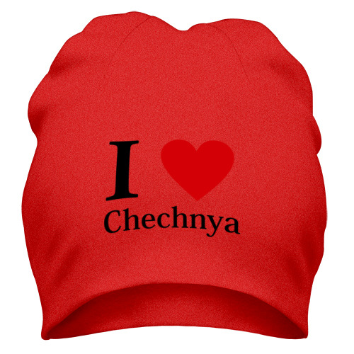 Шапка i love chechnya
