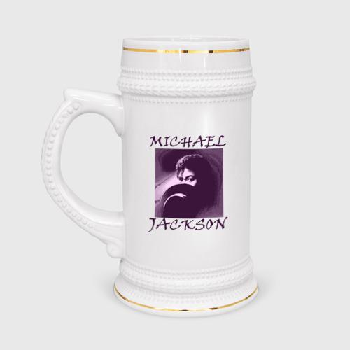 Кружка пивная  Фото 01, Michael Jackson с шляпой
