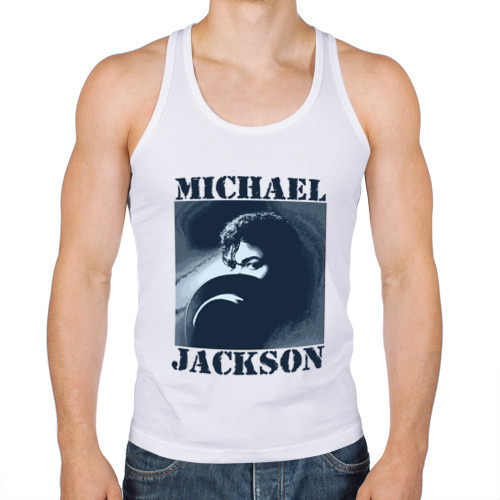 Мужская майка борцовка  Фото 01, Michael Jackson с шляпой (2)