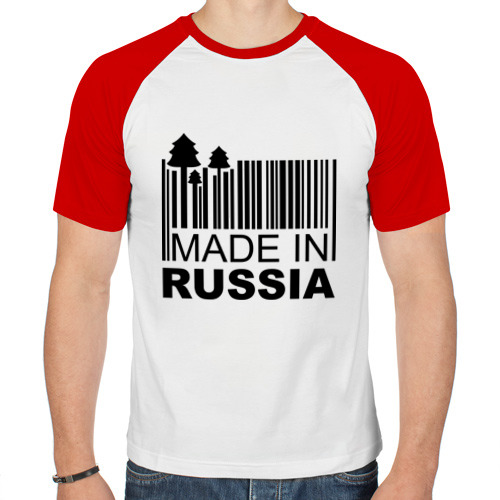 Мужская футболка реглан  Фото 01, Made in Russia штрихкод