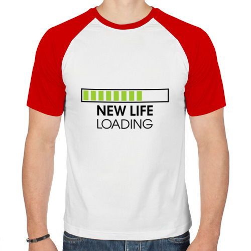 Мужская футболка реглан  Фото 01, New life. Loading
