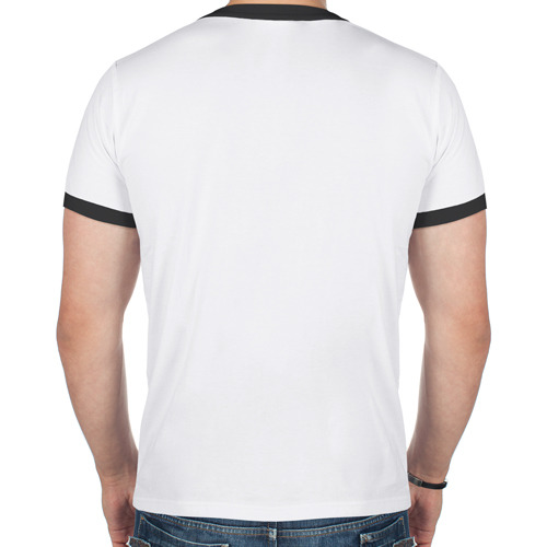 Мужская футболка рингер  Фото 02, Венга