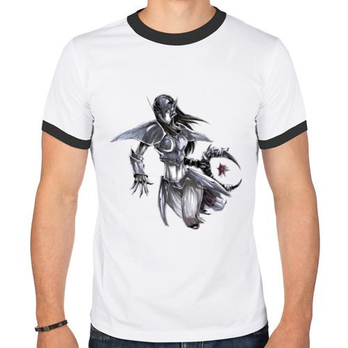 Мужская футболка рингер  Фото 01, Венга