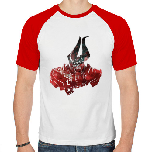 Мужская футболка реглан  Фото 01, Дум