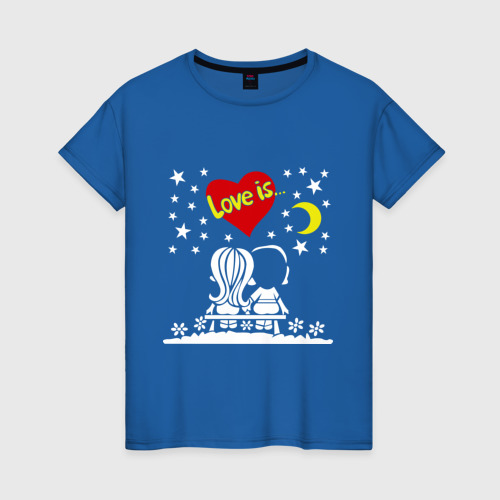 Женская футболка хлопок Love is... (1) Фото 01