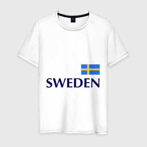 Мужская футболка хлопок Сборная Швеции - 10