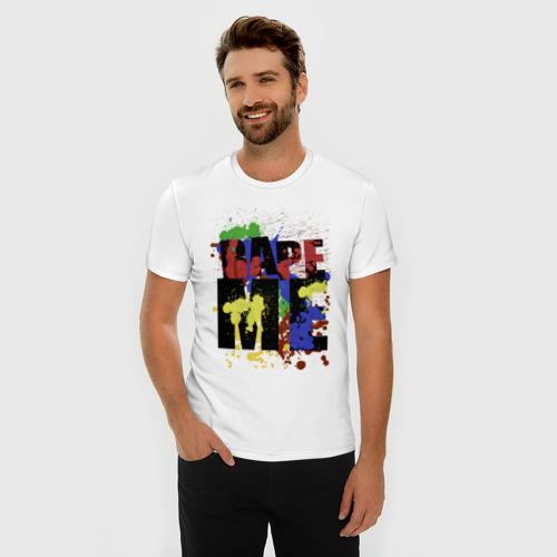 Мужская футболка премиум  Фото 03, Nirvana - Rape me