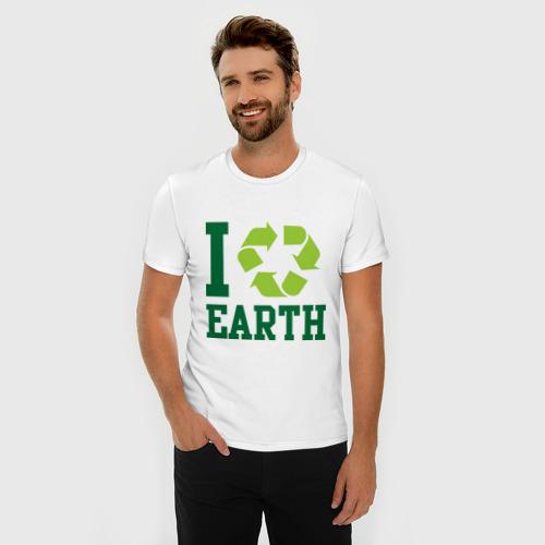 Мужская футболка премиум  Фото 03, Вращаю землю