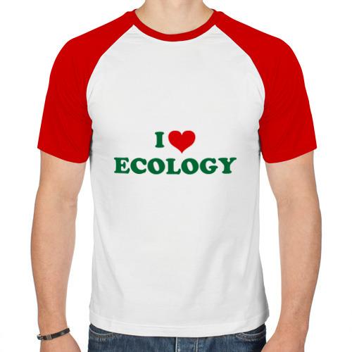 Мужская футболка реглан  Фото 01, Люблю экологию