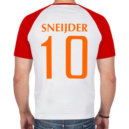 Мужская футболка реглан  Фото 02, Нидерланды - Уэсли Снейдер 10 (Snaijder)