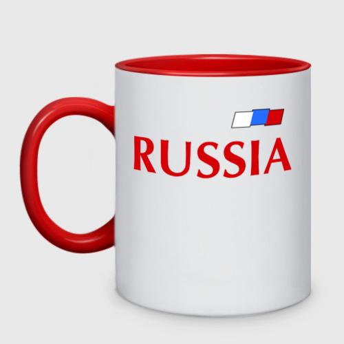Кружка двухцветная Сборная России Фото 01