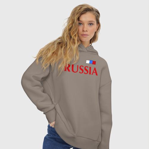 Женское худи Oversize хлопок Сборная России Фото 01