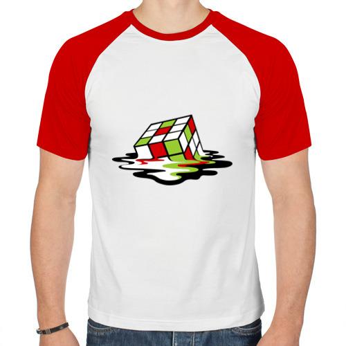Мужская футболка реглан  Фото 01, Кубик рубика