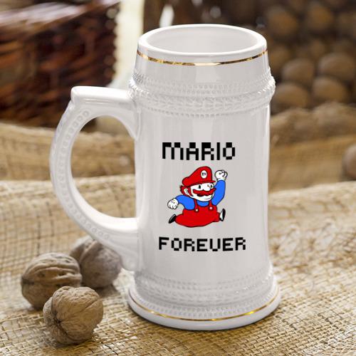 Кружка пивная  Фото 04, Mario forever