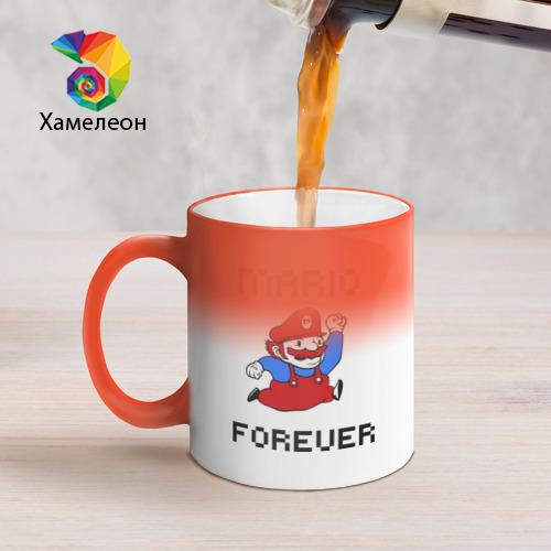 Кружка хамелеон Mario forever Фото 01