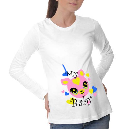 Лонгслив для беременных хлопок My baby