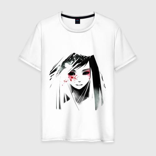 Мужская футболка хлопок лицо аниме 1