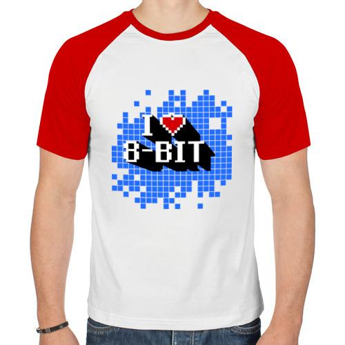 Мужская футболка реглан  Фото 01, I love 8 bit