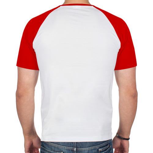 Мужская футболка реглан  Фото 02, череп 8 бит