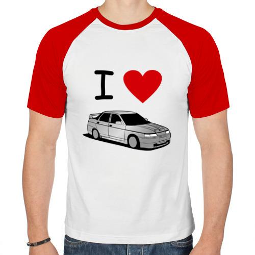 Мужская футболка реглан  Фото 01, I love десятка
