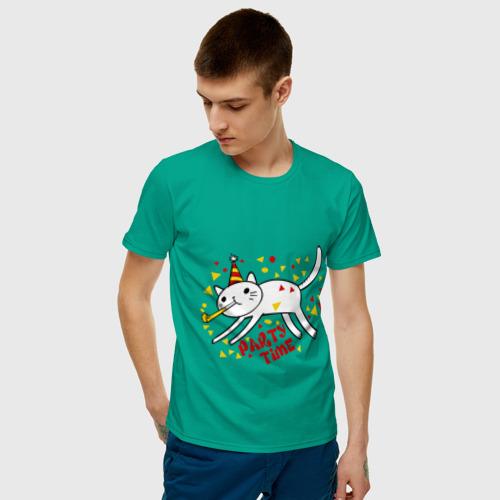 Мужская футболка хлопок  Фото 03, party cat