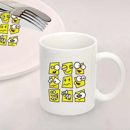 Набор: тарелка + кружка Смайликов кучка Фото 01