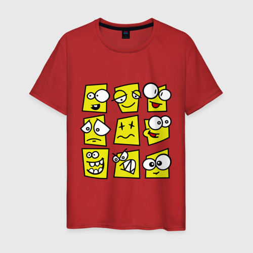 Мужская футболка хлопок  Фото 01, Смайликов кучка