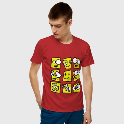 Мужская футболка хлопок  Фото 03, Смайликов кучка