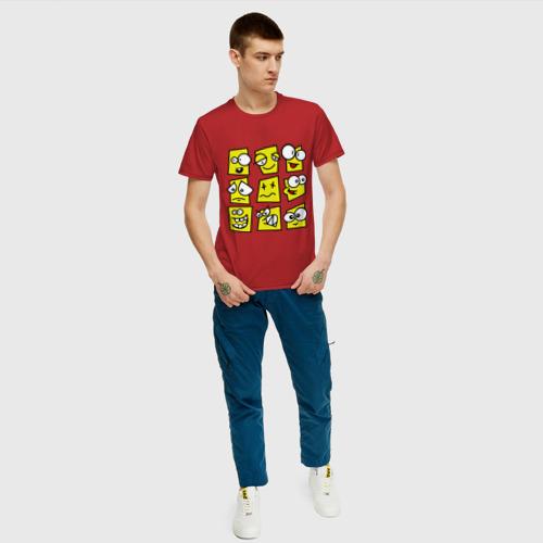 Мужская футболка хлопок  Фото 05, Смайликов кучка