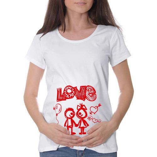 Футболка для беременных хлопок  Фото 01, Любовь рисунок