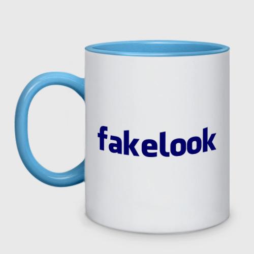 Кружка двухцветная  Фото 01, Fakelook