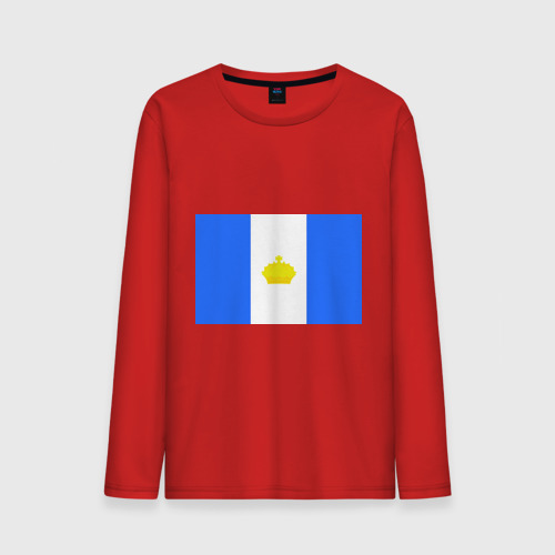 Мужской лонгслив хлопок  Фото 01, Ульяновск флаг