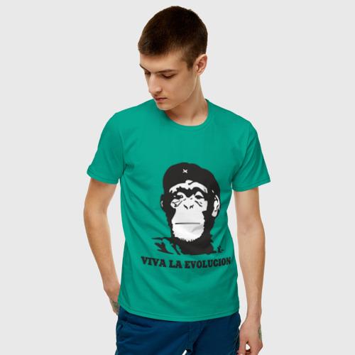 Мужская футболка хлопок  Фото 03, Viva la evolucion