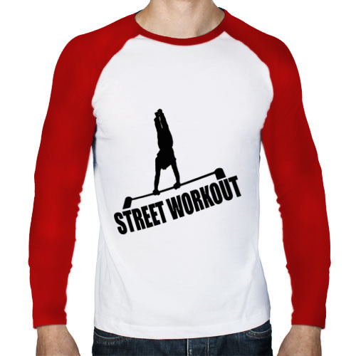 Мужской лонгслив реглан  Фото 01, Street Workout S