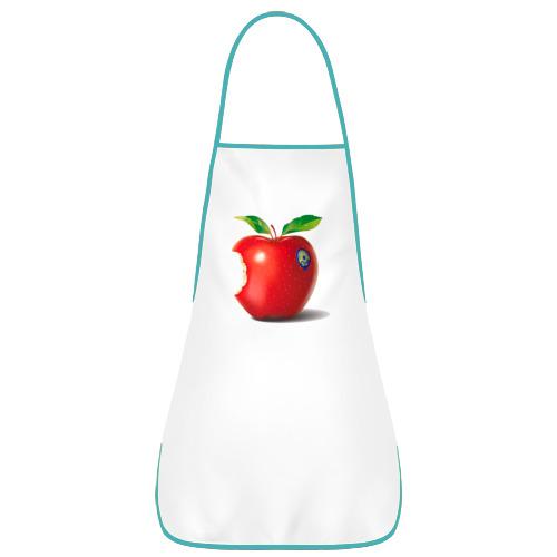 Фартук с кантом откусанное яблоко