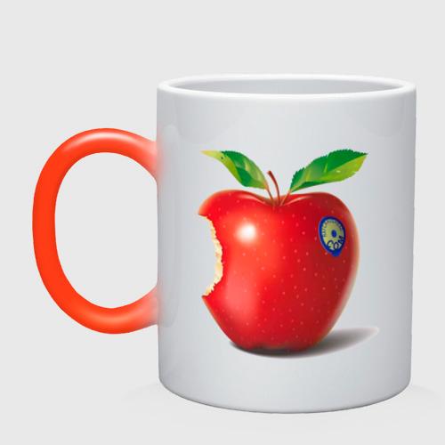откусанное яблоко