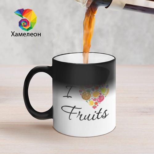 Кружка хамелеон  Фото 05, я люблю фрукты