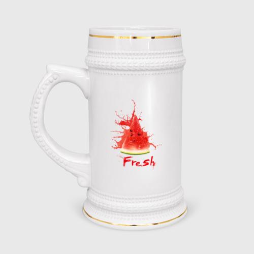 Кружка пивная  Фото 01, Fresh арбуз