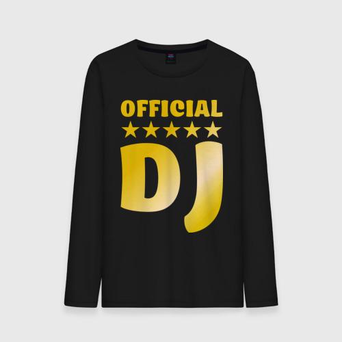 Мужской лонгслив хлопок  Фото 01, Official DJ золото