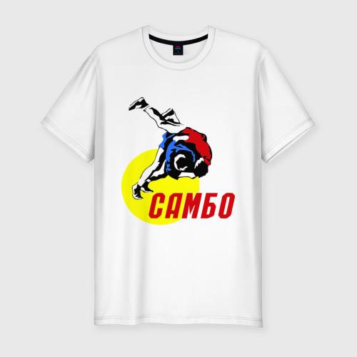 Мужская футболка премиум  Фото 01, спорт самбо